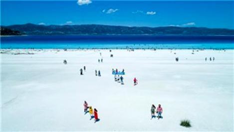 Salda Gölü çevresine 36 km uzunluğunda bisiklet yolu!