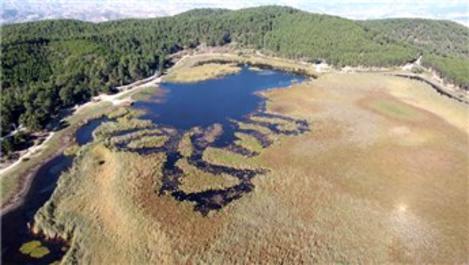Deniz Buldan'daki Yayla Gölü'nde sular azalıyor!
