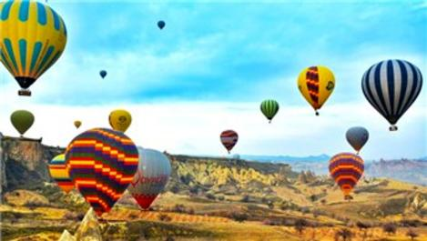 Kapadokya'da yerli üretim balonlar havalandı!