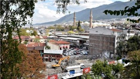 Bursa'da dönüşüm sonrası Ulu Cami görünmeye başladı