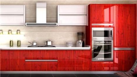 Mutfak dekorasyonunda kırmızı trendi!