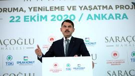 Bakan Kurum, Ankara Saraçoğlu projesini tanıttı!
