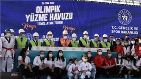 Konya'da olimpik yüzme havuzunun temeli atıldı