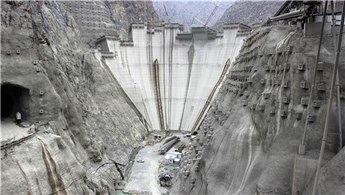 Yusufeli Barajı'nda 244 metreye ulaşıldı