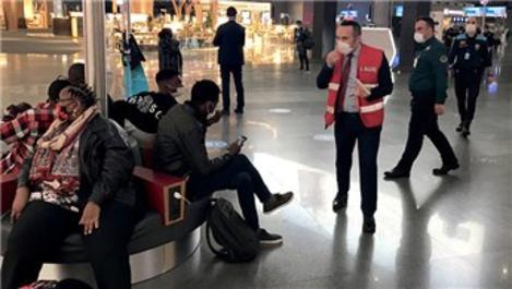 İstanbul Havalimanı'nda Kovid-19 denetimi yapıldı