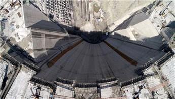 Yusufeli Barajı'nın gövde yüksekliği 247 metreye ulaştı