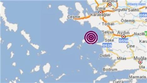 Ege Denizi'nde 3.5 büyüklüğünde deprem!