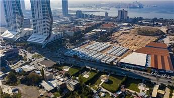 İzmir'de konteyner kent kurulumu devam ediyor