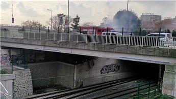Çöp yangını Marmaray seferlerini aksattı