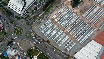 İzmir'de yapılan geçici konaklama merkezi tamamlandı