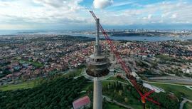 Çamlıca'daki TRT kulesinin sökümü başladı!