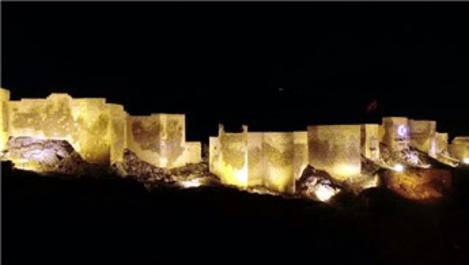 Bayburt Kalesi ışıklandırıldı