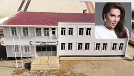 Ebru Yaşar'ın yaptırdığı okulun inşaatı tamamlandı
