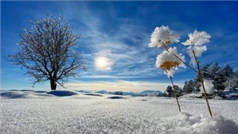 Erzurum'da Dipsiz Göl soğuktan dondu!