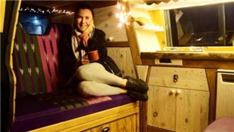 Şevval Sam'ın karavan hayali yeni yılda gerçek oldu