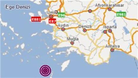 Ege Denizi'nde 4 büyüklüğünde yeni deprem!