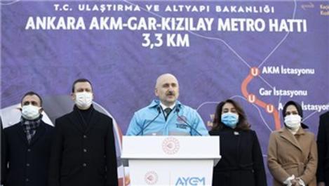 AKM-Gar-Kızılay metrosu 2022'nin sonunda açılacak