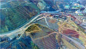 Yusufeli'nde yeni yerleşim yerine taşınan 15 bin ağaç dikildi
