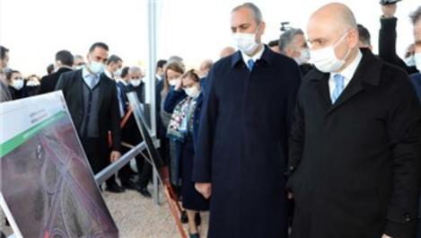 Bakanlar, Gaziantep'te karayolu şantiyesinde inceleme yaptı