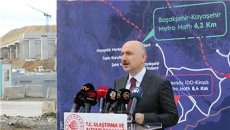 Başakşehir-Kayaşehir metrosu yıl sonunda açılıyor