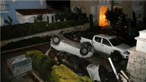 İzmir Çeşme'de hortum felaketi!