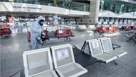 Esenboğa Havalimanı'nda dezenfekte çalışmaları devam ediyor!