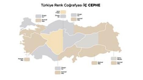 Polisan Kansai Boya, Türkiye'nin renk haritasını çıkardı