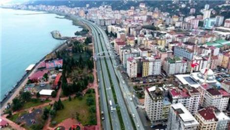 Rize'nin silüeti kentsel dönüşümle değişiyor