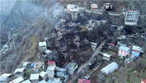 Artvin Yusufeli'de 60 ev kül oldu!
