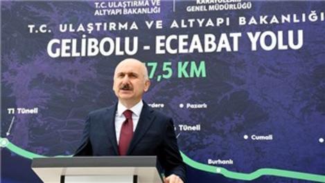 Gelibolu-Eceabat yolunun 26,5 kilometrelik kısım tamamlandı