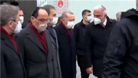 Cumhurbaşkanı Erdoğan, AKM inşaatını inceledi
