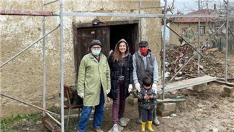 Burcu Kara, doğduğu evi tadilat yaptırıyor