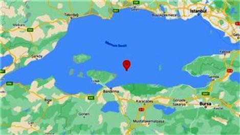 Marmara Denizi'nde 3.7 büyüklüğünde deprem!