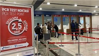 İstanbul havalimanlarında 469 bin yolcuya korona testi yapıldı