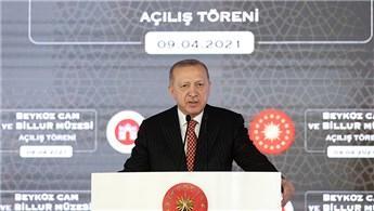 Cumhurbaşkanı Erdoğan, Beykoz Cam ve Billur Müzesi'ni açtı