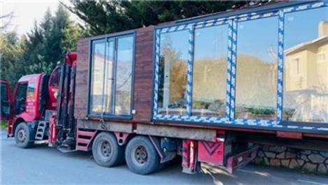 Kaçak kurulan konteyner evler drone ile tespit ediliyor