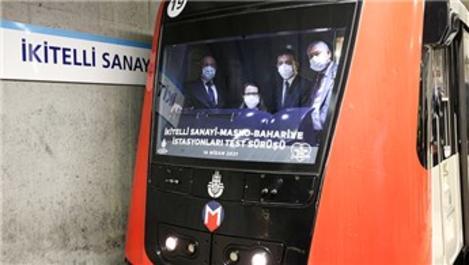 Ataköy-İkitelli Metro Hattı'nda deneme sürüşü yapıldı