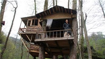 Rize'de pandemiye uygun mimari: Ağaç ev!