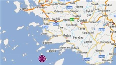 Datça açıklarında 4.4 büyüklüğünde deprem!