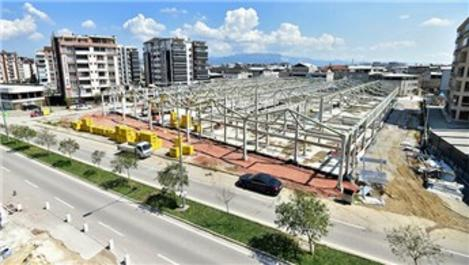 Millet Mahallesi Kapalı Pazar Alanı'nın %55'ini tamamlandı