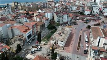 Sinop Kent Meydanı Millet Bahçesi'nin yapımına başlandı