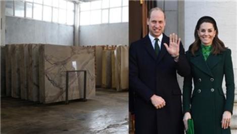 Prens William, evinde Denizli travertenleri kullanıyor