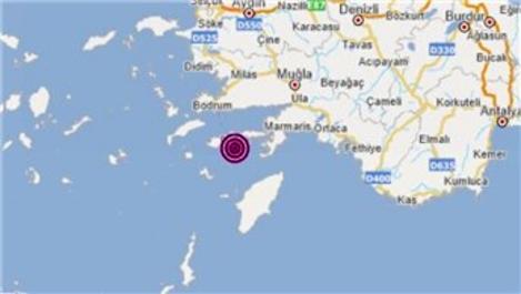 Datça'da 4.0 büyüklüğünde deprem!