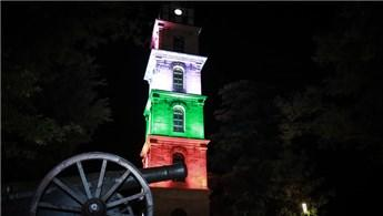 Bursa Tophane Saat Kulesi'yle Filistin'e destek!