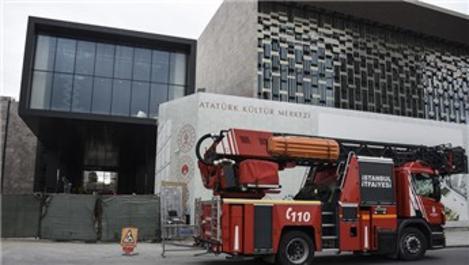 AKM inşaatında çıkan yangın söndürüldü