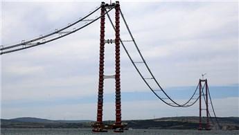 1915 Çanakkale Köprüsü'nde son çelik halat montajı yapıldı