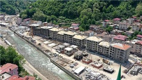 Dereli'de yeni yapıların inşasında sona gelindi