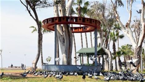 Mersin sahilinde 48 odalı 'kuş evi'