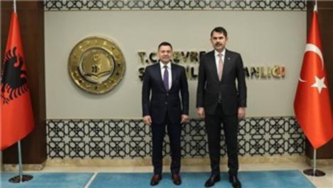 Bakan Kurum, Arnavutluk Devlet Bakanı Ahmetaj ile görüştü
