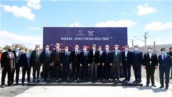 Cumhurbaşkanı Yardımcısı Oktay, YHT şantiyesini inceledi